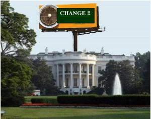 Obama change white house