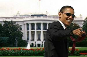 Obama coolly enter white house